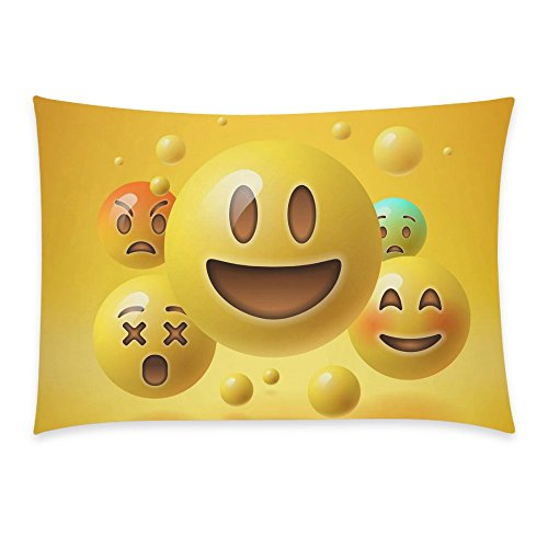 3D Emoji Yellow Pillow Case Slip