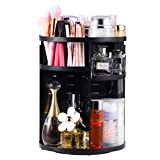 Exblue 360 Rotating Makeup Organizer Large Capacity Make up Display,7 Layers Ajustable Multi-Function Cosmetic Accessories Display Box,Black