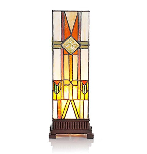 Stained Glass Mission Style Lamp - 8