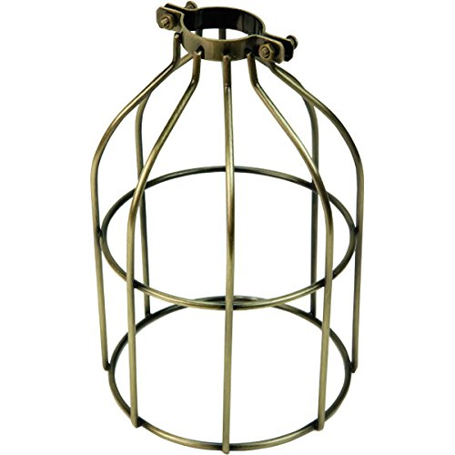 iLightingSupply 37-0107-30 Cage Premium Clamp-On Bulb Cage - Open Style - Antique Brassantique Brass - Brass Cage