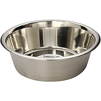 Bergan Stainless Steel Dog Bowl, 17-Cup