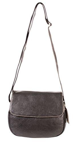 RL 665señoras bolso de piel auténtica negro Londres–pequeño Oxbridge moda bolsa de hombro