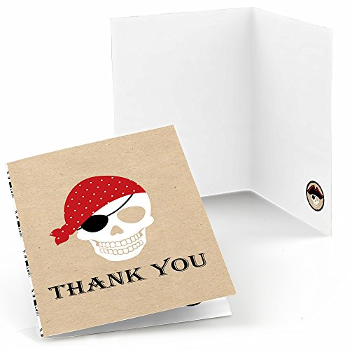 Thank You Sayings (Beware of Pirates - Pirate Birthday Party Thank You Cards (8 count))