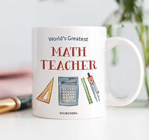 Math Teacher Gifts, World\'s Greatest Math Teacher Coffee Mug ...