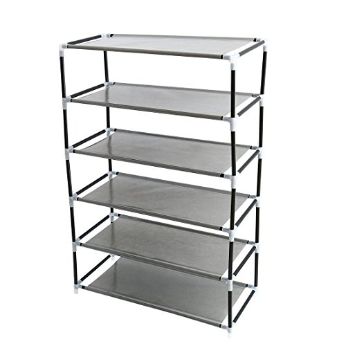 "uxcell Shoe Rack Tower, 6 Layers Holds 12 Pairs 33.9"" Height"