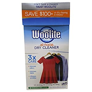 Woolite At Home Dry Cleaner, Fragrance Free, 6 Cloths