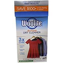 Woolite DCSFF04N Dry Cleaner's Secret-Fragrance Free-(6 Uses)-At Home Dry Cleaner for Fine Fabrics, Hand Washables and Dry Clean Only
