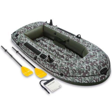 Intex hinchable camuflaje Seahawk 2 dos personas barco con remos y ...