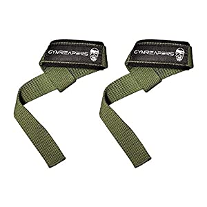 Gymreapers Lifting Wrist Straps for Weightlifting, Bodybuilding, Powerlifting, Strength Training, Deadlifts – Padded Neoprene with 18 inch Cotton