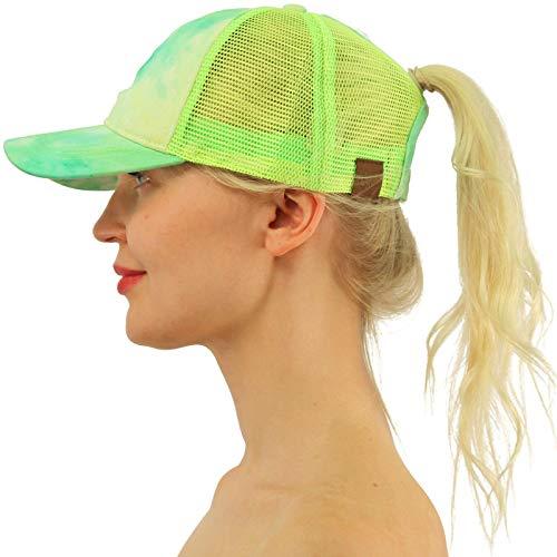3f7cb5c16dd C.C Ponytail Messy Buns Trucker Ponycaps Plain Baseball Visor Cap Dad Hat  Beige at Amazon Women s Clothing store