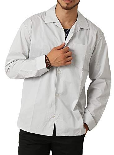 欲しいです裕福な帽子(アーケード) ARCADE メンズ 開襟 オープンカラー シャツ ストレッチ 開襟シャツ ワイド ビッグ 長袖シャツ