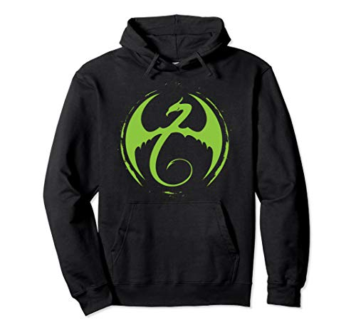 Marvel Iron Fist Classic Green Dragon Logo Graphic Hoodie