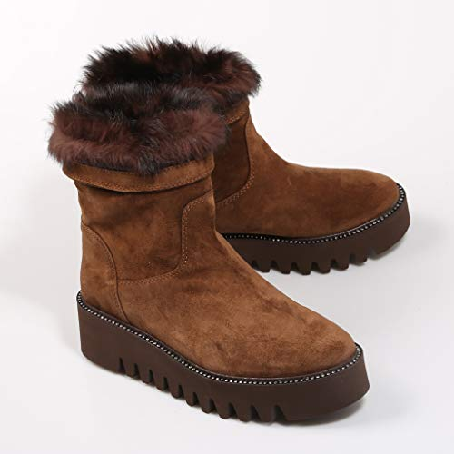 Ankle Alpe Woman For Colour Boot Suede In Brown paPnZOax
