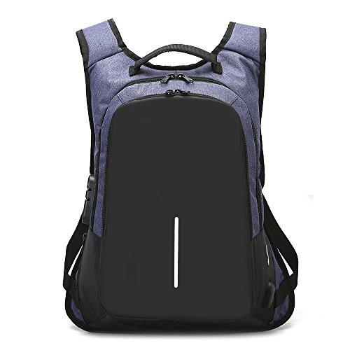 Impermeable USB Laptop para Y para Black Mochila Mochila De Mochila De con Negocios Blue Puerto Hombres Estudiantes Mujeres De Carga para Ocio Wj Ow08qY