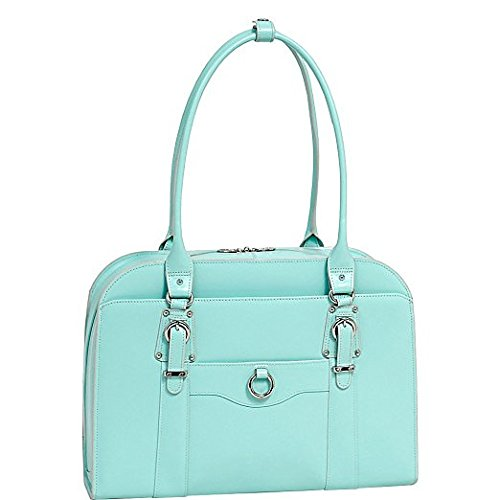 McKlein Hillside 15.6 Leather Ladies Briefcase 43 cm Aqua Blue