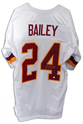 Champ Bailey Autographed Jersey - White - Autographed NFL Jerseys