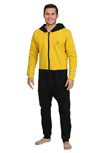 Star Trek The Original Series TOS Gold Kirk Loungers (Star Trek Pajamas For Adults)