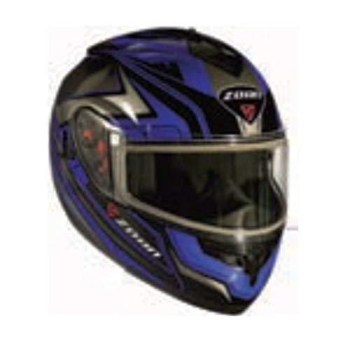 Zoan Optimus Eclipse Graphics Snow Helmet with Electric Shield (Blue, - Eclipse Helmet Snow Modular