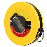 Fiberglass Site Measurement Tape Measure Compact Soft Rulers Measuring Tool for Construction Survey(10m)
