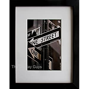 """The Display Guys ~Luxury Made Affordable~ 11X14"""" Pine Wood Frame in Black with Real Tempered Glass, Includes Two Mat Boards Option for 8x10' Photo And 5x7' Collage Photos"""