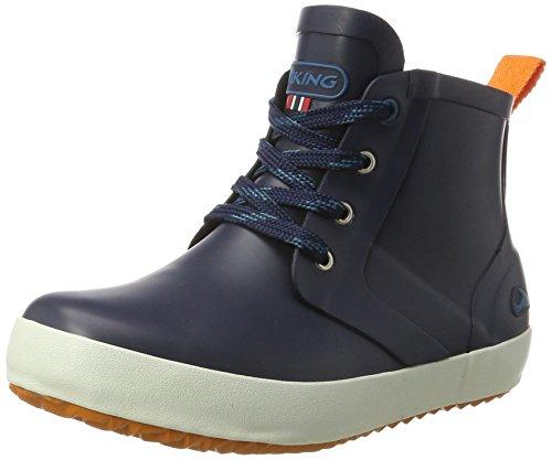 Viking Stivali Unisex Jr arancione scuro in Lillesand blu blu gomma Kids Rw1aRx