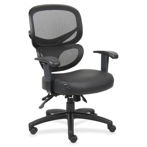 Lorell Mesh Back Executive Chair, 27-Inch by 27-Inch by 40-1/2-Inch, Black ()
