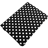 360 Degree Folio Stand Case for Samsung Galaxy Note 10.1, White Dots Black