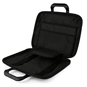 SumacLife Cady Dell Inspiron 11 3000 Series 11.6-inch Laptop and Tablet Briefcase Bag (Black)