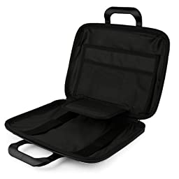 SumacLife Cady 11.6-inch Tablet Bag for Insignia Flex NS-P11W6100 with Bluetooth Speaker (Black)