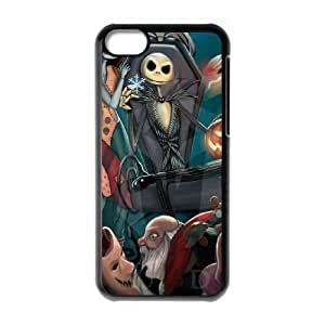 iPhone 5c Black Cell Phone Case The Nightmare Before Christmas KVCZLW0562 DIY Back Phone Case Cover