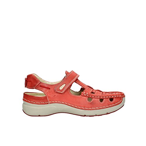 Women For Leder Sommer Loafers summer Wolky 357 Rolling Red Rot nqtIaa