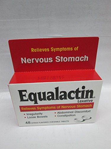 Equalactin Chewable Tablets 48 Tablets Citrus Flavored Chewable Tablets