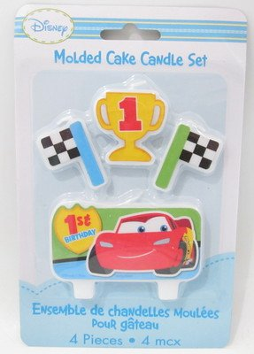 Amscan Disney 1st Birthday Cars Molded Candle
