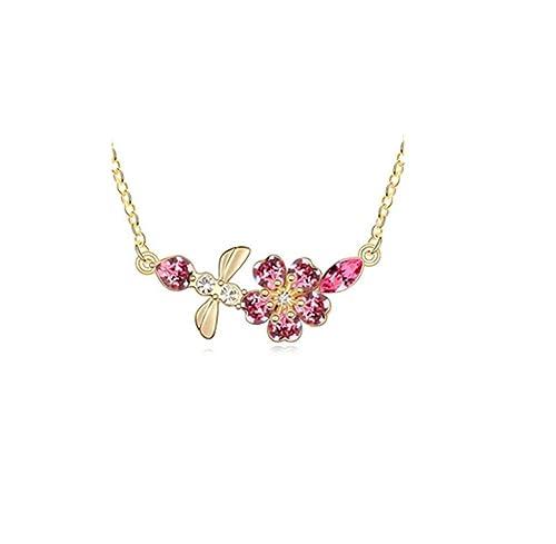 Jing Chow Collar Largo Mujer,Colgante Cristal,Regalos ...