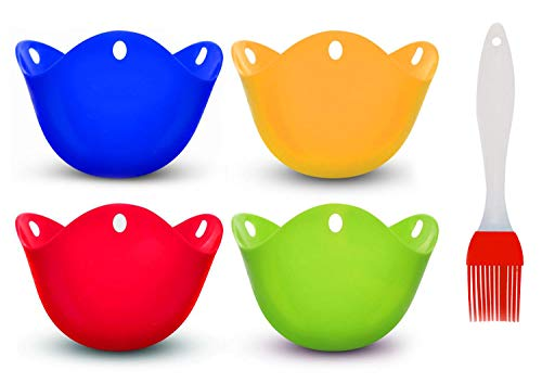 Vencer Egg Poacher Cups - Premium Silicone Poaching Pods,BPA