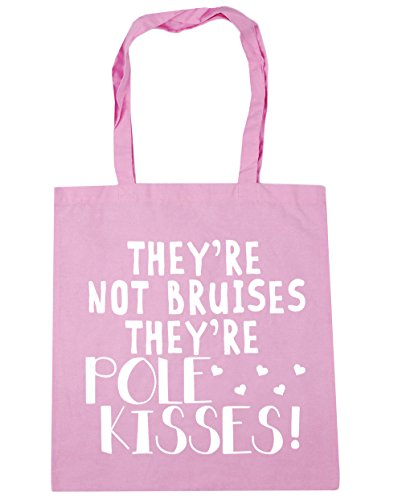 HippoWarehouse They're not bruises they're pole kisses Tote Shopping Gym Beach Bag 42cm x38cm, 10 litres Classic Pink