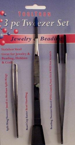Shovel Bead - Tooltron 3-Piece Jewelry and Beading Tweezers Set