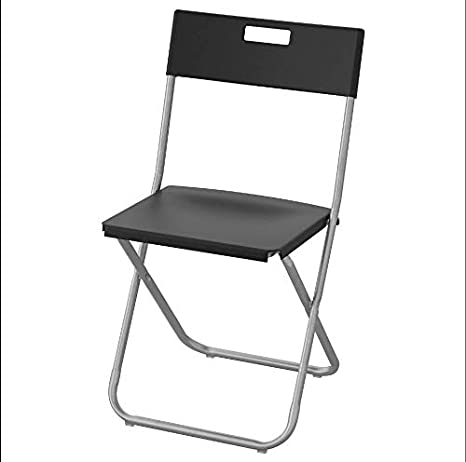 IKEA GUNDE Silla Plegable - Negro: Amazon.es: Hogar