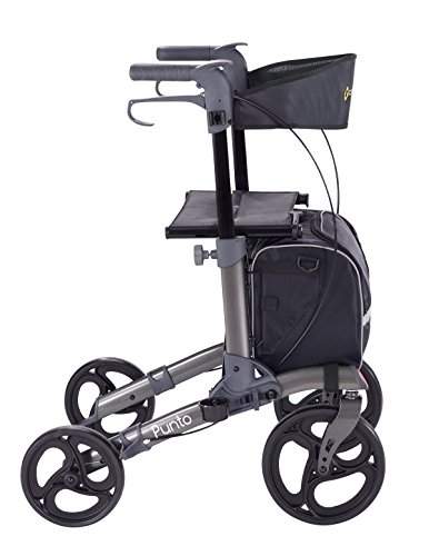 Comodità Punto Compact Rollator with Double Fold Action and Extra Large 10