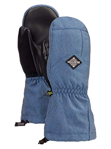 Burton Kids' Profile Mitten, Light Denim, Large