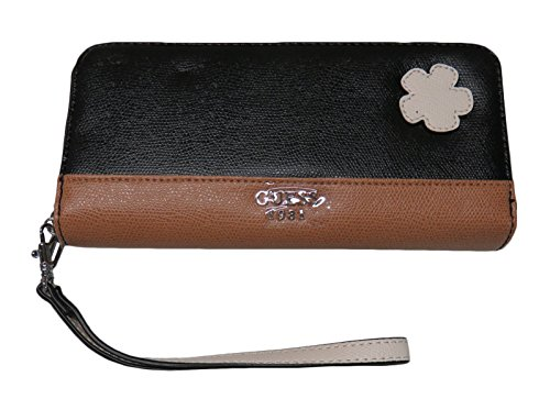 Guess Women's Zip Around Wristlet Wallet Showgirl Black Multi
