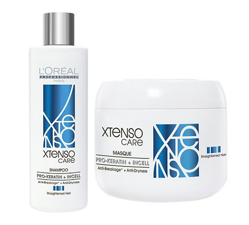 L'Oreal Professional X-tenso Care Straight Shampoo 250ml & Masque 196g Combo Pack by L'Oreal Paris