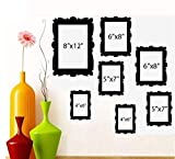FAMILY TREE PICTURE FRAMES ~ WALL DECAL (1) 8''X 10'' (2) 5'' X 7'' (2) 6''X 8'' (2) 4''X 6''
