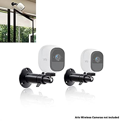 (2 pcs) 10cm Security Camera Wall Mounts for Arlo Camera Mount for Netgear Dropcam Arlo Q Pro HD GO CCTV Screw Wall Adjustable Swivel 360 Degree Outdoor Indoor Anti Theft Ceiling Table Mount By Sully