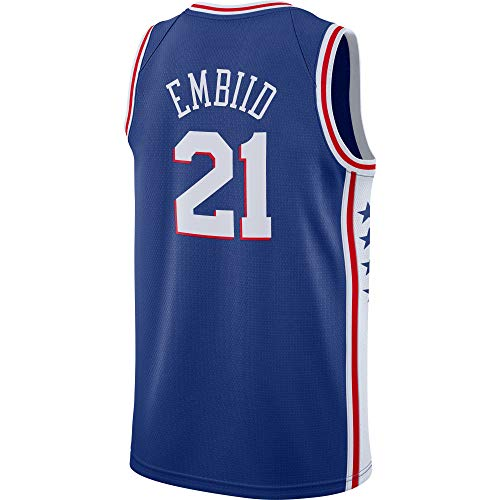 (Men's/Youth_Joel_Embiid_#21_Basketball_Fans_Jerseys_Youth_Royal_Game_Jersey)