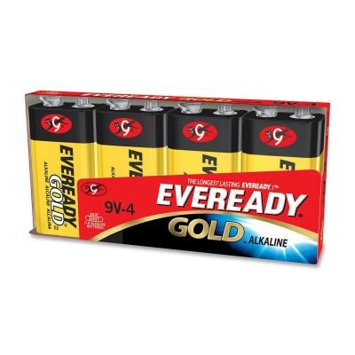 Eveready A522BP-4 Eveready Alkaline General Purpose Battery,Alkaline - 9V DC