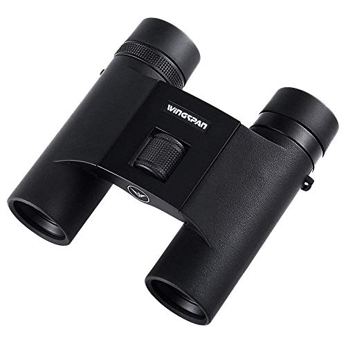 her ED Lightweight Binoculars - 8x25 Folding Binoculars for Bird Watching w ED Glass, Small Compact 12oz Travel Birding Binoculars w Wide Angle, Waterproof, Adjustable Eyecups ()