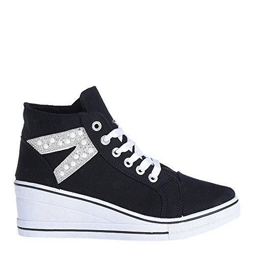 Markenlos Black WoMen Top Hi Slippers POF8Twq