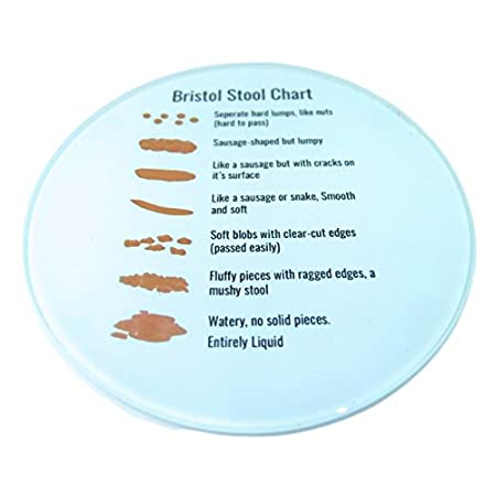 564fc3b7800 Bristol Stool Chart Glass Coaster Funny Nurse Doctor HCA Gift  Amazon.co.uk   Kitchen   Home