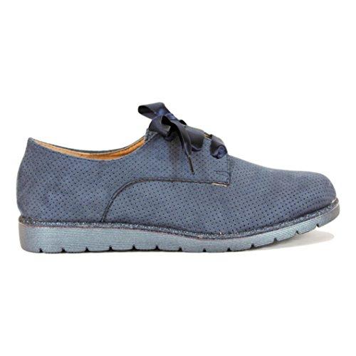 Zapato Calado Buonarotti de Cordones Amarillo Raso con UwSSdx5q7
